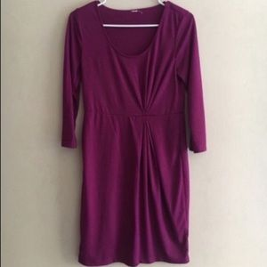 10/$25 Old Navy pink side rouch drop dress Small